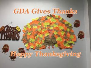 GDA Gives Thanks Turkey Collage