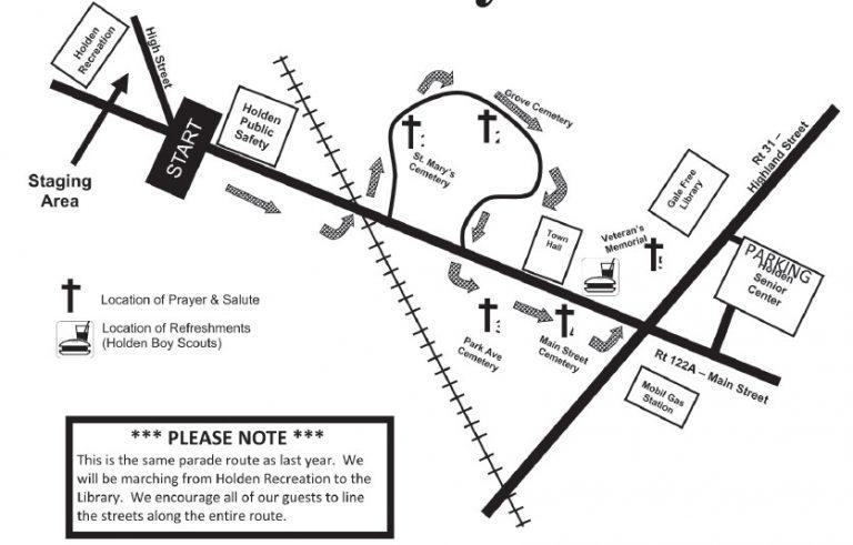 Holden Memorial Day Parade Route