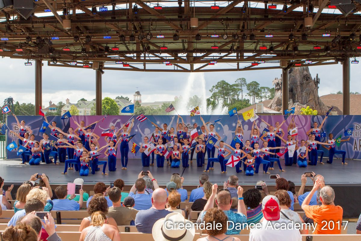 GDA Competition Team Dancing in Disney Performing Arts
