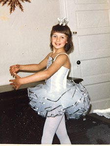 Teacher Miss Amy in a Dance costume