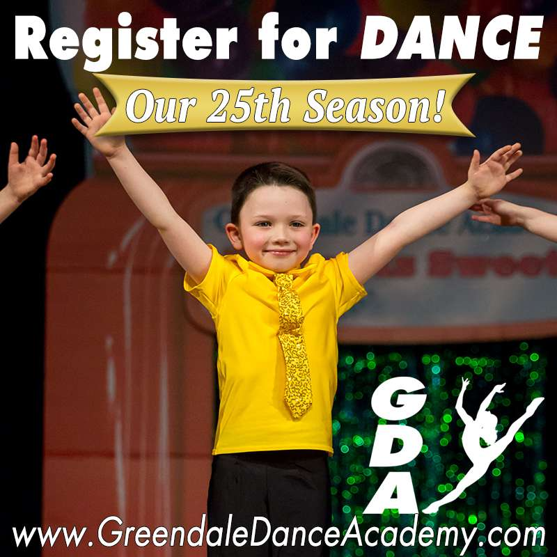 Register for dance at Greendale Dance Academy