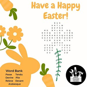 Dance Easter Word Search